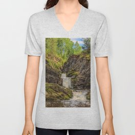 Forest Waterfall Unisex V-Neck