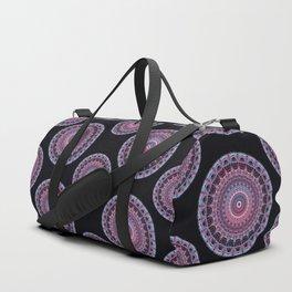 Mandala in red and violet colors Duffle Bag