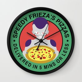 Speedy Frieza's Pizzas Wall Clock