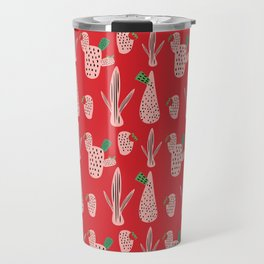 Mid Mod Cactus Red Travel Mug