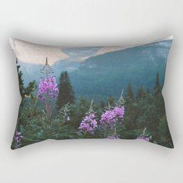 Glacier Flowers Rectangular Pillow