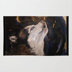 Howling Husky Rug