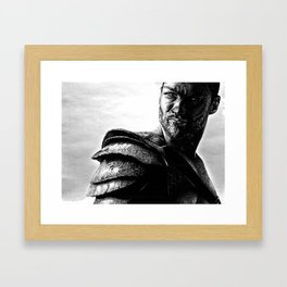 Drawing of the real Spartacus, Andy Whitfield Framed Art Print