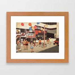 Dizengoff Center in the 80s Framed Art Print