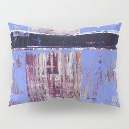 Chagrin Cornflower Blue Abstract Painting Modern Art Pillow Sham