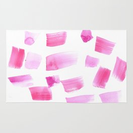 180515 Watercolour Abstract Wp 4| Watercolor Brush Strokes Rug