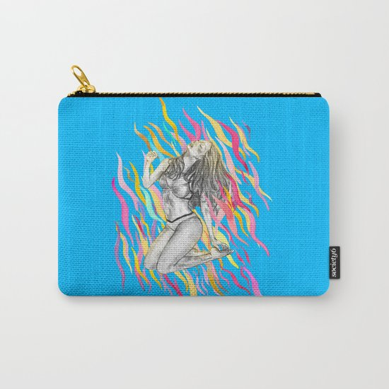Ibiza Summer Flame Carry-All Pouch