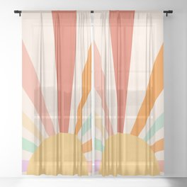 Boho Sun Colorful Sheer Curtain