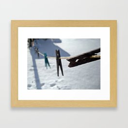 Clothes-lined  Framed Art Print