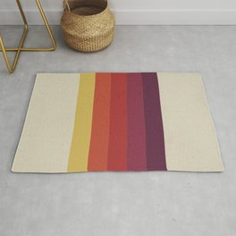 Retro Video Cassette Color Palette Rug