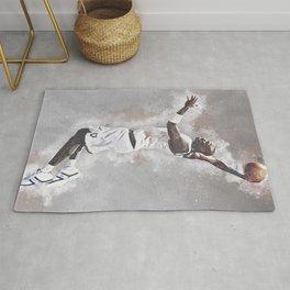 basketball player art 7 Rug