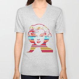 Marilyn | Pop Art | Monroe Unisex V-Neck