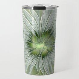 Olive Fantasy Flower Travel Mug