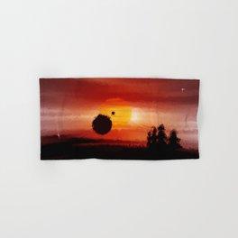 Fantastic red horizon. Hand & Bath Towel