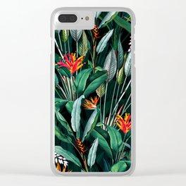 Midnight Garden V Clear iPhone Case
