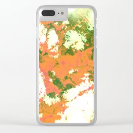 rock & cloud Clear iPhone Case