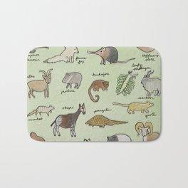 The Obscure Animal Alphabet Bath Mat
