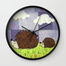 Just Following Our Noses Wall Clock