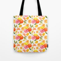 oana befort Tote Bags featuring CITRUS by Oana Befort