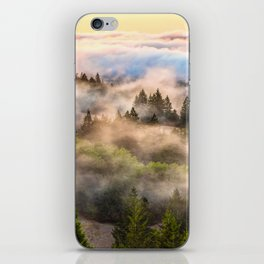 Coastal Fog Over Mount Tamalpais iPhone Skin