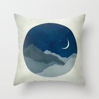 starry night Throw Pillows featuring Starry Night by Eve Sand