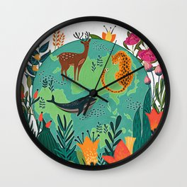 Once Destroyed Nature's Beauty Cannot Be Repurchased At Any Price Wall Clock