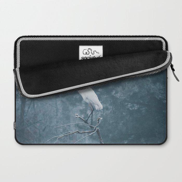 Snow Crane Laptop Sleeve