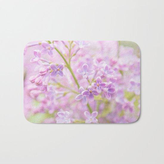 Lilac Flowers Mist Bath Mat