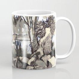 Summer walks in the woods.  Coffee Mug