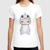 tintin T-shirts featuring A Boy - Shark by Christophe Chiozzi