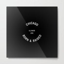 Chicago - IL, USA (Black Badge) Metal Print