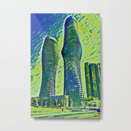 Canada Mississauga Absolute World Artistic Illustration Banknote Style Metal Print