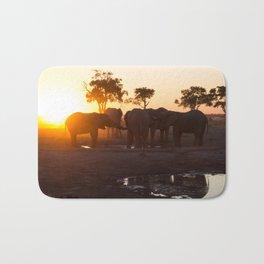 Elephants at Sunset Bath Mat