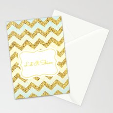 Gold chevron Stationery Cards