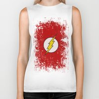 the flash Biker Tanks featuring Flash by Some_Designs