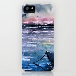 Coucher de soleil sur mer iPhone Case