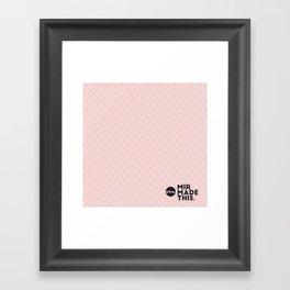 MirMadeThis Pink Framed Art Print
