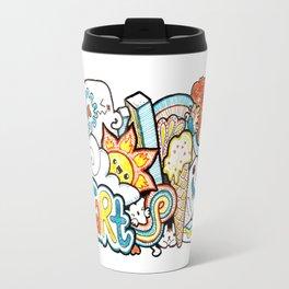 Kawaii Doodle - Just Start Travel Mug