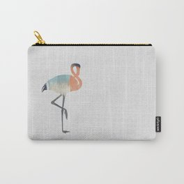 Pastel Flamingo Carry-All Pouch