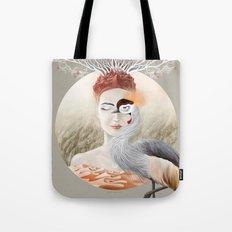 Bird Crane Tote Bag