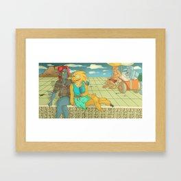Fishy Love Framed Art Print