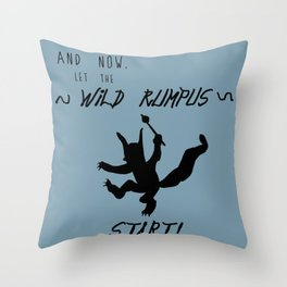 Wild Rumpus (Blue) Throw Pillow