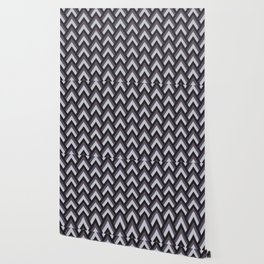 Mid Century Modern Triangles (Charcoal) Wallpaper