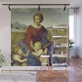 Madonna of the Meadows by Raphael Wall Mural