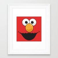 sesame street Framed Art Prints featuring Sesame Street Elmo by Jconner