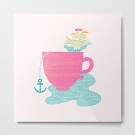 Cup of Sea Metal Print