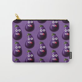 Stressed Out Eggplant Carry-All Pouch