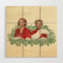Sisters - A Merry White Christmas Wood Wall Art