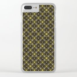 Starburst and Lines Mid Century Earth Colors Clear iPhone Case