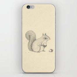 Monochrome Squirrel iPhone Skin